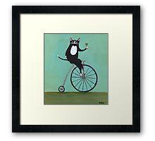 Lucky on a Bike Framed Print