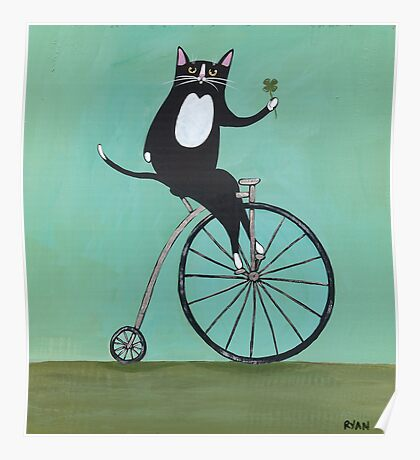 Lucky on a Bike Poster