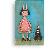 They Were Rabbits Canvas Print