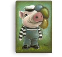 Jonathan the pig Canvas Print