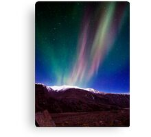 Northernlights dancing in Iceland. Canvas Print