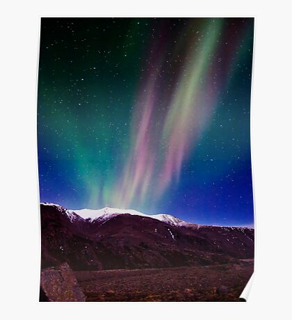Northernlights dancing in Iceland. Poster