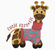 Cutie Patootie Giraffe One Piece - Short Sleeve