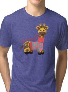 Cutie Patootie Giraffe Tri-blend T-Shirt