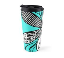 Flower Garden ( The Shades of Blue Collection) Travel Mug