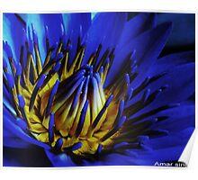 Blue fire Poster