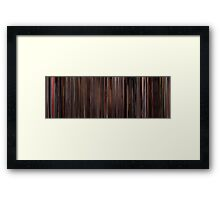 Moviebarcode: Three Colours: Red (1994) Framed Print