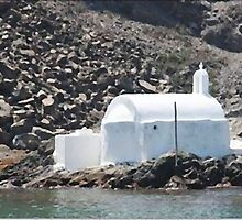 "Church By The Sea - Santorini by Christine ""Xine"" Segalas"