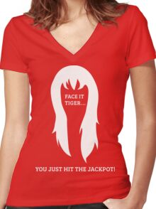 Mary Jane 'Jackpot' Women's Fitted V-Neck T-Shirt