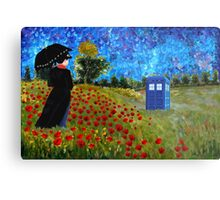Umbrella girl with space and time traveller box art painting Metal Print