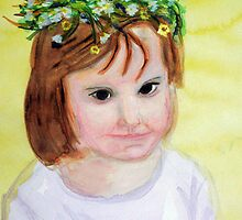 Summer princess with flower crown by Heidi Mooney-Hill