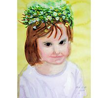 Summer princess with flower crown Photographic Print