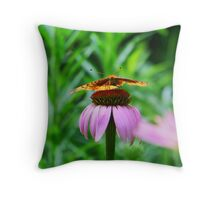 Coneflower And Friend Throw Pillow