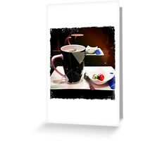 iPhone Coffee At the Salon  Greeting Card