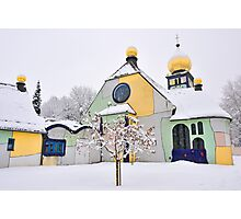Hundertwasser Church Photographic Print