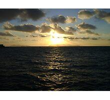 SUN ,SEA AND DARK CLOUDS Photographic Print
