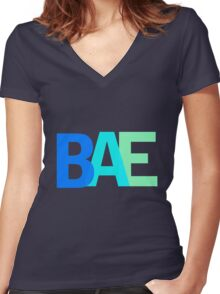 Bae Women's Fitted V-Neck T-Shirt