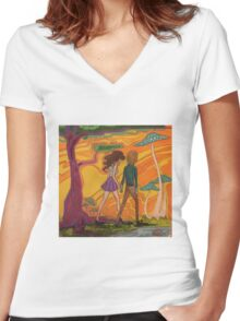 Trippy Babies Women's Fitted V-Neck T-Shirt