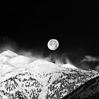 Moon over the Alps by Silvia Ganora