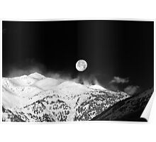 Moon over the Alps Poster