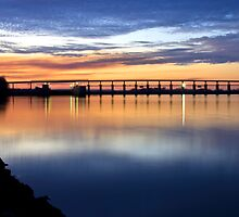 River Bridge and Sunset by Mitchell Tillison