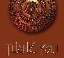 "Metallic ""Thank You!"" card by walstraasart"