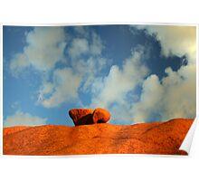 Rock in Namib desert Poster