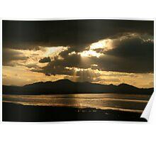 Sunset at Son-Kul lake Poster