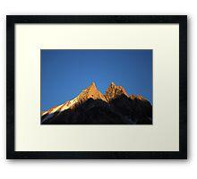 Rocky peak in Kyrgyz Tien-Shan Framed Print