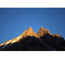 Rocky peak in Kyrgyz Tien-Shan Photographic Print