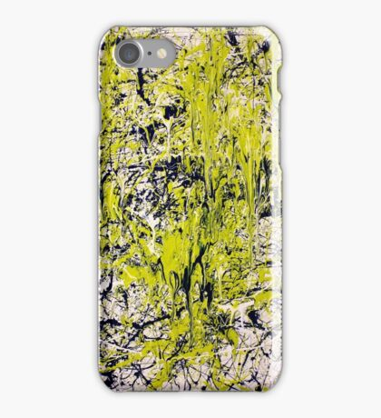 Abstract Jackson Pollock Painting Titled: Dancing Wild iPhone Case/Skin