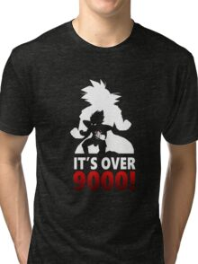 It's Over 9000! Tri-blend T-Shirt