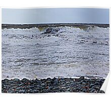 Surf On a Rocky Beach Poster