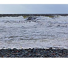 Surf On a Rocky Beach Photographic Print