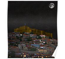 Molyvos By Night Lesvos Greece Poster