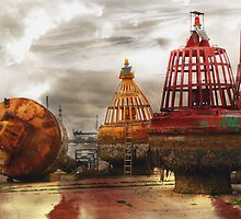 Beached Buoys by dmacwill