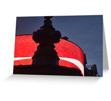 Picadilly Circus Signage at Night Greeting Card