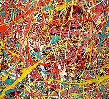 Modern Abstract Jackson Pollock Painting Original Art Titled: Constant Change by ZeeClark
