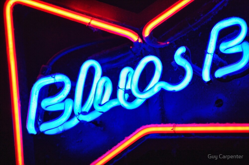 Blues Bar Neon by Guy Carpenter