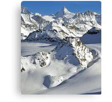 heli skiing Canvas Print