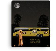 Golf world tour Scream, tour bus Canvas Print