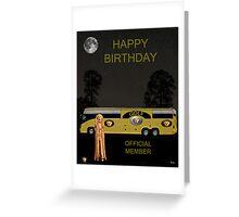 Golf  World Tour Scream Tour Bus Happy Birthday Greeting Card