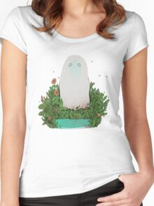 garden ghost Women's Fitted Scoop T-Shirt