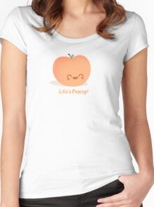 Life is Peachy! Women's Fitted Scoop T-Shirt