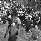 Shrovetide Football In The River by Sam Halford