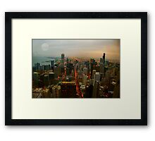 CHICAGO TWILIGHT TIME Framed Print
