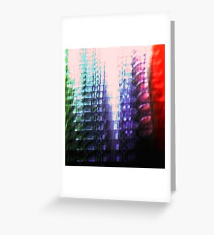 Coloured Skyscrapers Greeting Card