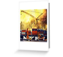 Crane clock-face Greeting Card