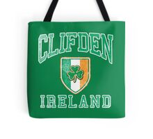 Clifden, Ireland with Shamrock Tote Bag