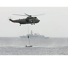 Absail from helicopter Photographic Print